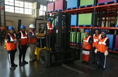 all-women-batch-at-the-godrej-disha-practical-training-for-forklifts