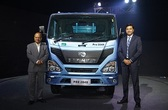 vinod-aggarwal-md-and-ceo-vecv-and-vishal-mathur-senior-vp-sales-and-mkting-unveils-eicher-pro-2000-bs-vi-range-of-trucks